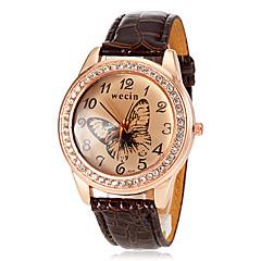 お買い得  大特価腕時計-女性用 リストウォッチ ラインストーン / 模造ダイヤモンド PU バンド 蝶型 / ファッション / ドレスウォッチ ブラック / 白 / ブルー