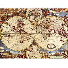 رخيصةأون -العتيقة خريطة العالم لغز النفط اللوحة لعبة 1000 قطعة
