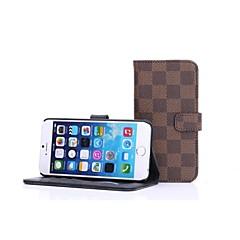 Для Кейс для iPhone 6 / Кейс для iPhone 6 Plus Бумажник для карт / со стендом Кейс для Чехол Кейс для Геометрический рисунок Твердый