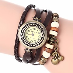 お買い得  レディース腕時計-女性用 ブレスレットウォッチ クォーツ PU バンド ハンズ ボヘミアンスタイル ファッション ブラック / 白 / ブルー - レッド グリーン ブルー 1年間 電池寿命 / Jinli 377