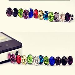 abordables Gadgets para Samsung-goma del auricular del polvo del diamante para la galaxia s8 s7 samsung del iphone 8 7& samsung (color aleatorio)