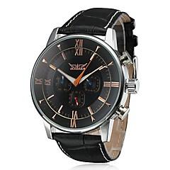 Męskie Zegarek na nadgarstek zegarek mechaniczny Nakręcanie automatyczne Kalendarz Skóra Pasmo Ekskluzywne Czarny Brązowy White Black