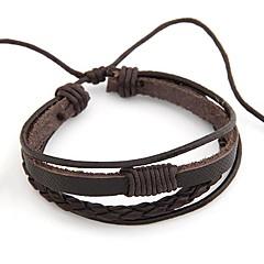 preiswerte Armbänder-Damen Wickelarmbänder - Leder Armbänder Schwarz / Kaffee Für Alltag