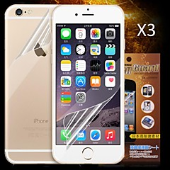 Недорогие Защитные пленки для iPhone 6s / 6 Plus-Защитная плёнка для экрана для Apple iPhone 6s / iPhone 6 3 ед. Защитная пленка для экрана и задней панели HD