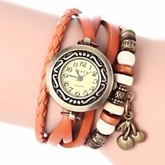 preiswerte Damenuhren-Damen Armband-Uhr Quartz PU Band Analog Böhmische Modisch Schwarz / Weiß / Blau - Rot Grün Blau Ein Jahr Batterielebensdauer / Jinli 377