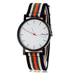 Herre Armbåndsur Quartz Stof Bånd Minimalistisk Mangefarvet