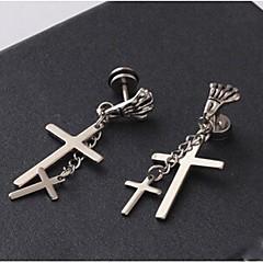 voordelige Oorbellen-Druppel oorbellen - Kruis Schedel Titanium Staal Voor Kerstcadeaus Bruiloft Feest Dagelijks Causaal