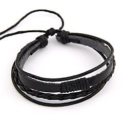 мода простой многослойная этнической кожаный браслет