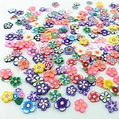 300pcs karışık stil fimo dilim çiçek serisi tırnak sanat dekorasyon