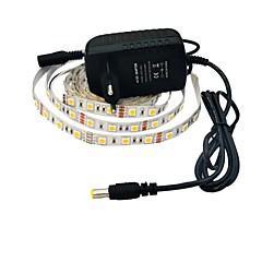 olcso LED szalagfények-jiawen® 2.5m 12W 150x5050smd 6000-6500k fehér LED rugalmas szalag fény + 2a (váltóáramú 110-240)