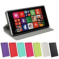 용 노키아 케이스 스탠드 / 플립 케이스 풀 바디 케이스 단색 하드 인조 가죽 Nokia Nokia Lumia 930