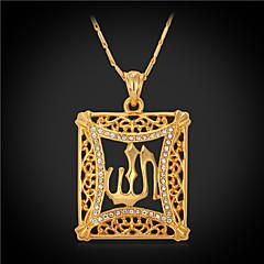 Kettingen imitatie Diamond Hangertjes ketting / Vintage Kettingen Sieraden Rechthoekige vorm Kristal / Strass / Verguld Gouden Geschenk