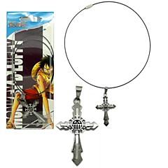 abordables -Joyas Inspirado por One Piece Cosplay Animé Accesorios de Cosplay Collares Legierung Hombre caliente