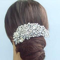 женская старинные сплав горный хрусталь кристалл цветок свадьба свадебный волосы расческой