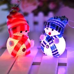 voordelige -10 * 6cm elektronische led Kerstmissneeuwman