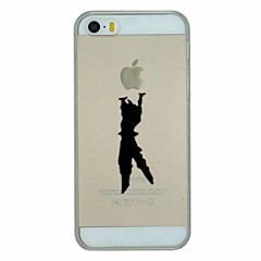 Недорогие Кейсы для iPhone 5-Кейс для Назначение iPhone 5 / Apple / iPhone X iPhone X / iPhone 8 Plus / Кейс для iPhone 5 Прозрачный / С узором Кейс на заднюю панель Композиция с логотипом Apple Твердый ПК для iPhone X / iPhone
