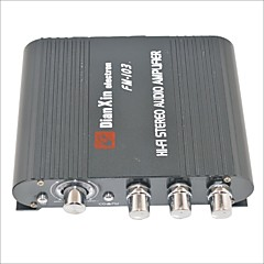Недорогие Bluetooth гарнитуры для авто-FM-103 стерео аудио усилитель с функцией FM-черный