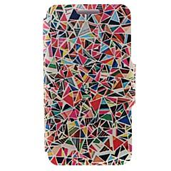 billige Etuier til Nokia-For Nokia etui Kortholder / Flip Etui Heldækkende Etui Geometrisk mønster Hårdt Kunstlæder Nokia Nokia Lumia 520