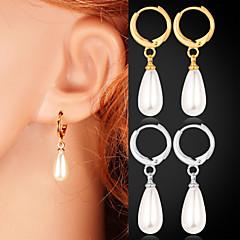 abordables Bijoux pour Femme-Femme Blanc Blanc Boucles d'oreille goujon Boucles d'oreille goutte - Imitation de perle Or / Argent Pour