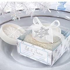 ünnep ajándékok karácsony hópehely alakú szappan (véletlenszerű szín)