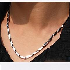 Недорогие Ожерелья-Прочее Нержавеющая сталь Ожерелья-цепочки  -  Уникальный дизайн Мода Геометрической формы Серебряный Ожерелье Назначение Новогодние