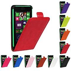 Недорогие Чехлы и кейсы для Nokia-Кейс для Назначение Nokia Lumia 620 / Nokia Lumia 1020 / Nokia Lumia 630 Кейс для Nokia Флип Чехол Однотонный Твердый Кожа PU для
