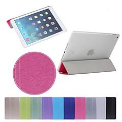 billige Etuier / Covers Til iPad Air 2-Etui Til iPad Air 2 Med stativ Auto Sluk Origami Fuldt etui Helfarve PU Læder for iPad Air 2