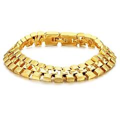 preiswerte Armbänder-Herrn Tennis Armbänder - 18K vergoldet, vergoldet Einzigartiges Design, Modisch Armbänder Golden Für Weihnachts Geschenke Hochzeit Party