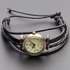 voordelige Armbandhorloges-Dames Modieus horloge Armbandhorloge Japans Kwarts Echt leer Band Vintage Bohémien Zwart Kaki