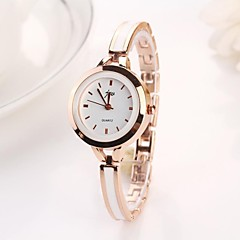 preiswerte Damenuhren-Damen Armbanduhr Quartz Armbanduhren für den Alltag Legierung Band Analog Charme Modisch Silber - Silber Golden