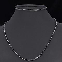 お買い得  ジュエリーセット-u7®かわいいブラックボックスチェーンアルミ合金のネックレスのブレスレットは、男性の女性の55センチメートルのためのジュエリーを設定します
