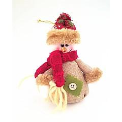 abordables Regalos-algodón y lino pequeño muñeco de nieve estilo de la muñeca que restaura maneras antiguas