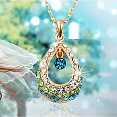 preiswerte Halsketten-Damen Kristall Anhängerketten - Strass Tropfen Modisch Weiß, Fuchsia, Blau Modische Halsketten Schmuck Für Hochzeit, Party, Alltag