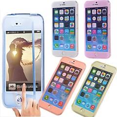 Недорогие Кейсы для iPhone-Для Кейс для iPhone 6 / Кейс для iPhone 6 Plus Флип / Прозрачный Кейс для Чехол Кейс для Один цвет Мягкий TPUiPhone 6s Plus/6 Plus /