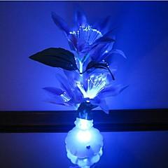preiswerte Neuheiten LED - Beleuchtung-bunten Blumen Vase Glasfaser Blumen führte nigth Licht