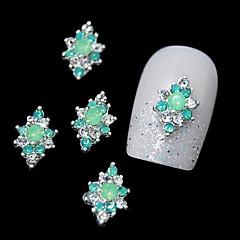 10 buc verde aliaj stras pentru varfurile degetelor de bricolaj designul unghiilor arta decorativa