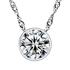 preiswerte Halsketten-Damen Kubikzirkonia Anhängerketten - Sterling Silber, Kubikzirkonia, Diamantimitate Modisch Silber Modische Halsketten Schmuck Für Hochzeit, Party, Alltag