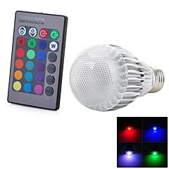 preiswerte LED-Birnen-E26/E27 LED Kugelbirnen 1 LEDs Integriertes LED Ferngesteuert Kühles Weiß RGB Rot Blau Gelb Grün Lila Orange 300-500 AC 100-240V