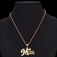 Женский Ожерелья с подвесками Заявление ожерелья Имитация Алмазный Имитация Алмазный В форме сердца Мода Золотой Серебряный БижутерияДля