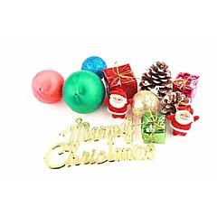 abordables Disfraces de Santa-Decoraciones Navideñas Decoraciones Para el Árbol de Navidad Bonito El plastico Chico Chica Juguet Regalo 12 pcs