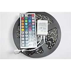 Z®ZDM Black PCB Board Waterproof RGB 5M 300x5050 SMD White Light LED Strip Lamp DC12V+44 Key