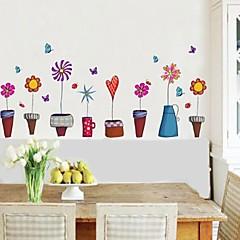 벽 스티커 벽 꽃 냄비 스타일의 장식 스티커 데칼