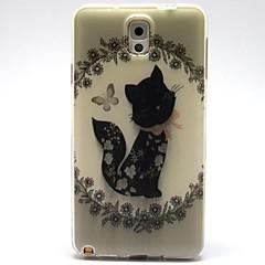 halpa Galaxy Note 3 kotelot / kuoret-Etui Käyttötarkoitus Samsung Galaxy Samsung Galaxy Note Kuvio Takakuori Kissa TPU varten Note 3