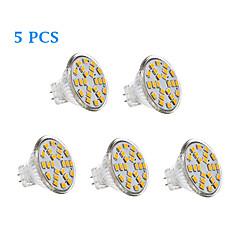 abordables Ampoules LED-200-250 lm GU4(MR11) Ampoules à Filament LED 24 diodes électroluminescentes SMD 2835 Blanc Chaud Blanc Froid AC 12V