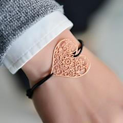 cheap Bracelets-Fashion Women Heart Cut Out Stamping Elastic Bracelet