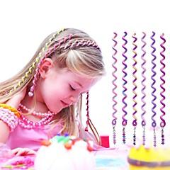 De 6 stuks 24cm violet kinderen krullend haar touw