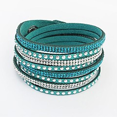 Women's Bangles Wrap Bracelet Leather Bracelet Tennis Bracelet Basic Friendship European Fashion Long Multi Layer Costume Jewelry Leather