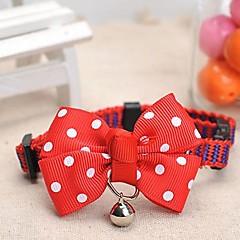 お買い得  犬用首輪/リード/ハーネス-ペットの犬のための調整可能なmeshbeltスポットパターン赤ちょう結びと鐘装飾された襟