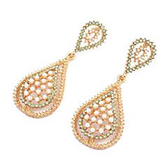 ドロップイヤリング 人造真珠 合金 ジュエリー のために 日常
