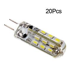 お買い得  LED 電球-jiawen 20pcs 1w 120lm g4 led二重ピンライトコーンバルブ24led smd 3014装飾シャンデリアランプ暖かい白/冷たい白ac / dc 12v